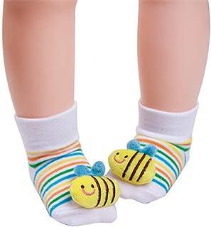 Bryights, Calcetines Bebe Calcetines De Bebé Recién Nacido De Algodón De Dibujos Animados Calcetines De Bebé Antideslizantes Calcetines Para Niños Y Niñas Zapatos Botas Ropa Para Niños Accesorios-14_6 Meses
