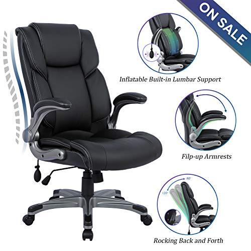 Statesville High Back Office Chair - Ergonomic Computer Desk Executive Task Swivel Chair -...