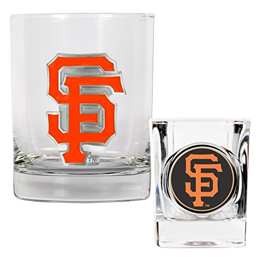 MLB Rocas vidrio y Shot Glass Set Primaria logotipo