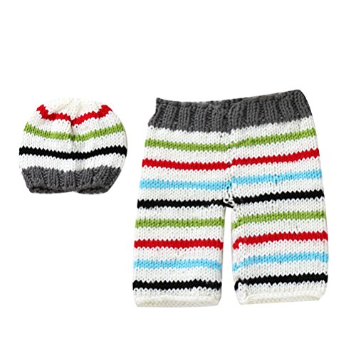 Zhhlinyuan Mode Newborn Baby Boy Girl Crochet Knit Costume Photo Photography Prop Outfit 2174