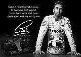 Lewis Hamilton Formel 1 Schwarzweiß motivierender Poster