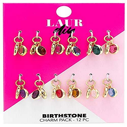 LaurDIY 37600063 Birthstone Charms Pack, Multi