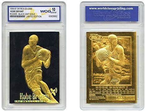 KOBE BRYANT 1996 97 Skybox EX 2000 Rookie 23KT Gold Card GEM MINT 10 BLACK GOLD product image