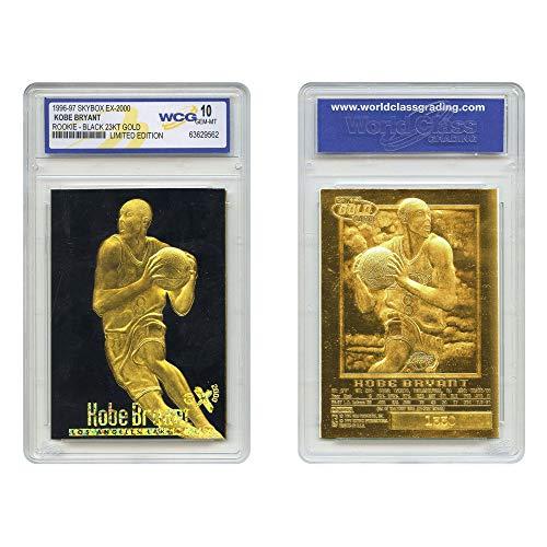 Kobe Bryant 1996-97 Skybox EX-2000 Rookie 23KT Gold Card GEM Mint 10 Black Gold