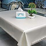 Ahuike Tischdecke Wasserabweisend Tischdecke Keine Wiederverwendbaren Falten Lotuseffekt Tischtücher Weiß 120×160cm