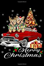 merry Christmas: Yorkshire terrier on Red Truck Christmas Pajama Dog Lovers  Journal/Notebook Blank Lined Ruled 6x9 100 Pages