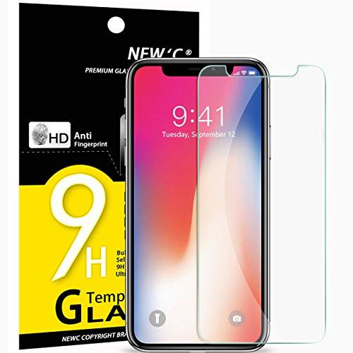 NEW'C 3 Unidades, Protector de Pantalla para iPhone 11 Pro, iPhone X, iPhone XS, Vidrio Cristal Templado