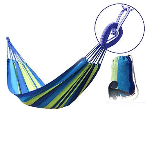 MMWYC Hammock Camping Outdoor Hammock Canvas Breathable Portable Indoor Swing Double Hammock Garden Hammock Blue 200x150cm(78.7x59in)