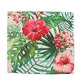 VOSAREA Funda de Almohada de Arpillera de Plantas Tropicales Fundas de Cojín Fundas de Almohada de Hawaii para Sofá Dormitorio