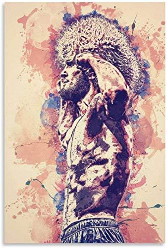 Lienzo Y Arte De Pared PóSter Khabib Nurmagomedov para decoración Familiar Pintura Pared Y Estampados Cuadros 19.7'x27.6'(50x70cm) Sin Marco