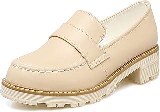 BalaMasa Womens APL11996 Pu Block Heels