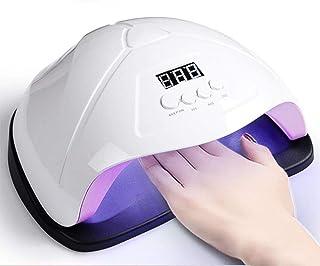 Secador UñAs, LED 96w Profesional Lampara UñAs Gel Semipermanentes Maquina UñAs Luz Lamp con Sensor Automatico,4 Temporizadores Manicura/Pedicure Nail Art,Blanco