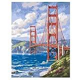 Puzzle De 1000 Piezas Para Adultos 3D Golden Gate Imagen Del Paisaje Diy Kits Abstractos Montaje Personalizado De Madera Jigsaw Puzzles Divertido