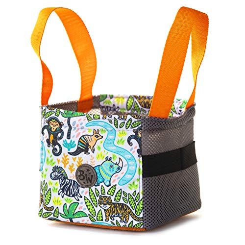 BAMBINIWELT Musikbox-Tasche, Transporttasche für Hörwürfel z.B. Toniebox und Tigerbox Touch, Halterung für Tonies,KLEIN (Modell 21)