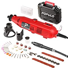 Includes 3 attachments and a massive 107 Accessories with bits, discs, wheels and More. Perfect for sanding, cutting, polishing, grinding, carve, engraving, sharpening and drilling etc. For home improvement projects and DIY crafting ideas. 3.5ft Flex...