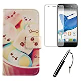 Lankashi 3in1 Set Pattern Lovely Design PU Leather For ZTE