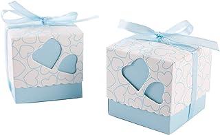 SurePromise One Stop Solution for Sourcing 100 x Låda bordsdekoration bröllopspresent blått hjärta Bonbonniere presentförp...