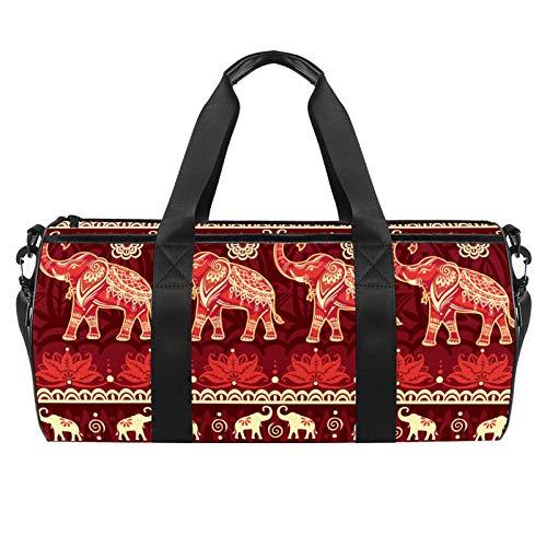 Bolsas de Deporte Infantiles Elefantes Bolsa de Viaje Impermeable Bolsa Deportiva Bolsa de Natación Bolsa Gimnasio Bolso para Picnic Camping Vacaciones 45x23x23cm