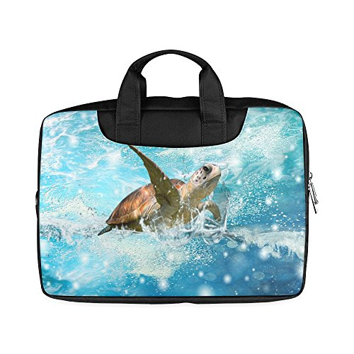 Laptop Notebook Sea Turtle Underwater Handle Sleeve Bag Case Cover for 13 inches MacBook Pro(Twin Sides Printing)