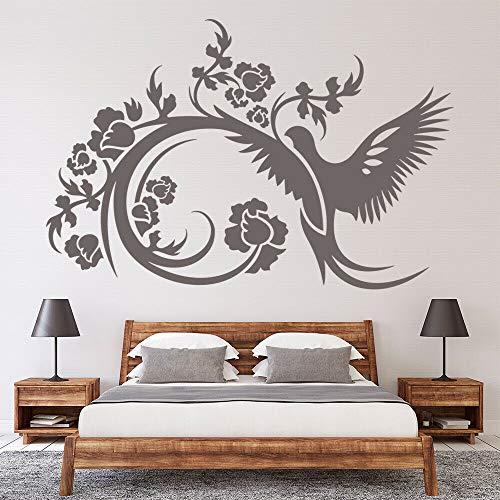 HGFDHG Palomas y Flores calcomanías de Pared pájaros y Flores Hermosos murales artísticos Puertas y Ventanas Pegatinas de Vinilo Dormitorio Sala de Estar decoración del hogar