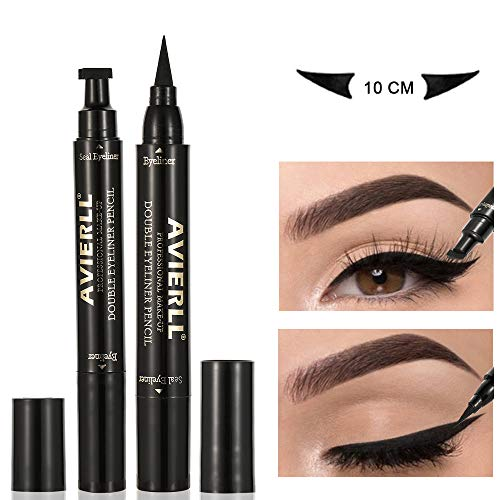 VICSPORT Eyeliner Stamp 2 Stifte Winged Eyeliner Stamp Perfekter Cat Eye Stamp mit wasserdichtem,...