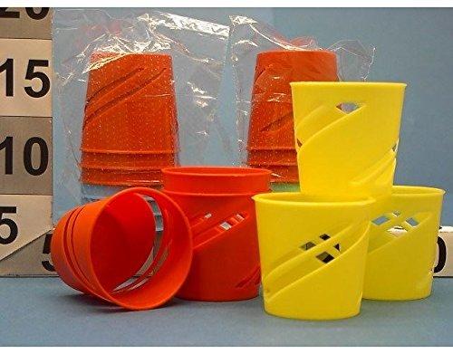 OEM SYSTEMS Contenitori Portabicchieri Porta Bicchieri in Plastica Set 6Pz Colori Assortiti, Assorted, 6 pz