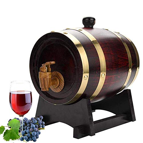 Copas de cóctel, Decantador de whisky Crystal 1,5 litros American Oak Barrel, hecho a mano con roble blanco americano, Edad Su propio whisky, Cerveza, Vino, Bourbon, Tequila, Salsa Caliente y More Whi