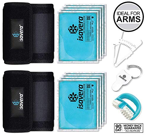 Isavera Arm 'Fat Freezing' System | Arm 'Fat Freezer' / Shaper Wraps for Flabby Arms | Trainer Slimmer Sleeve | Reducing Bands