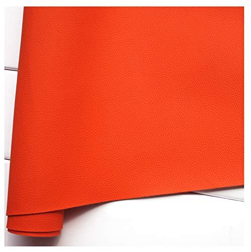 GERYUXA Tela de Cuero de Polipiel para tapizar, Manualidades, Cojines o forrar Objetos. Venta de Polipiel por Metros-Naranja a7 1.4x4m