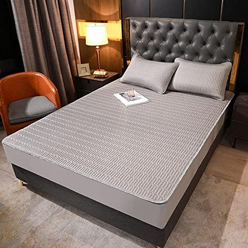 FJMLAY Sábanas bajeras de látex Frescas, Protector Antideslizante para Alfombrilla para Dormitorio Apartment-Z6_200cmx220cm (3pcs)