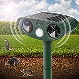 Repelente Solar Ultrasónico para Animales, Auyentador Solar de Animales-Impermeable IP65,Repelente...