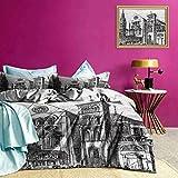 Adorise Bedspread Coverlet Set Notre Dame en Vaux Art Art Bedding Set Very Soft, Comfortable, and Classy - Twin Size