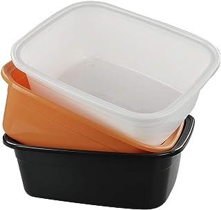 4-Pack Rectangle Neadas Plastic White Gray Color Dish Washing Up Bowls Basins