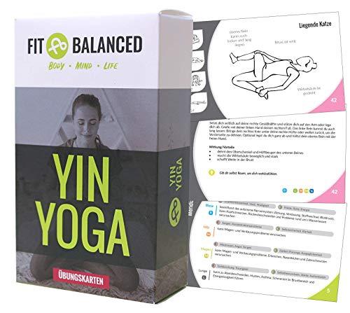 FIT&BALANCED Yin Yoga Übungskarten, sanftes Yoga,...
