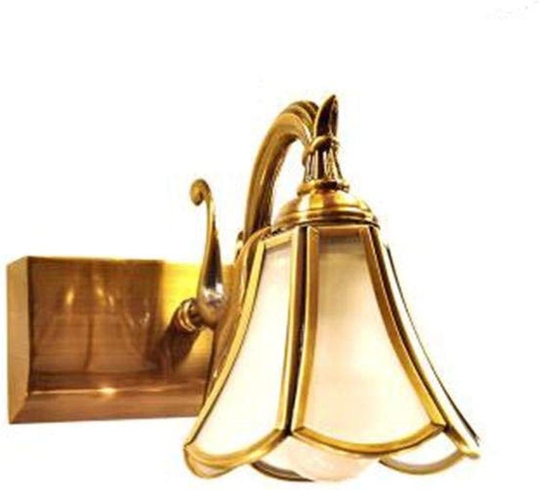 BAIF Vollbronze Spiegel Scheinwerfer Amerikanischen Europischen wasserdichte Badezimmerspiegel Schrank Schminktisch Spiegel Lichter Wandleuchte (Farbe  1 Licht)