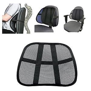 Soporte para respaldo de asiento Welim para respaldo de la silla, respaldo de malla, soporte lumbar para asiento de…