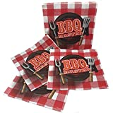 Tovaglioli carta per BBQ, cucina e feste, resistenti, colorati, allegri, conf. da 20pz
