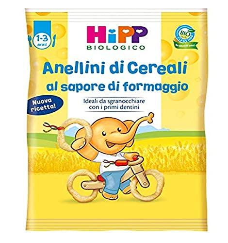 HiPP, Anellini Di Cereali Soffiati Bio, Gusto Parmigiano Con Un Tocco Di Pomodoro, 7 Confezioni Da 25 G - 174.9 g