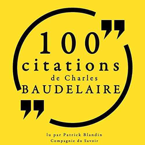 Couverture de 100 citations de Charles Baudelaire