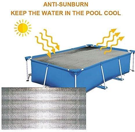 Solarplane Solarfolie Solar Poolabdeckung Poolheizung Abdeckung F/ür Easy Set Und Rahmen Pools Solarabdeckung des Pools Solarabdeckplane f/ür Pool