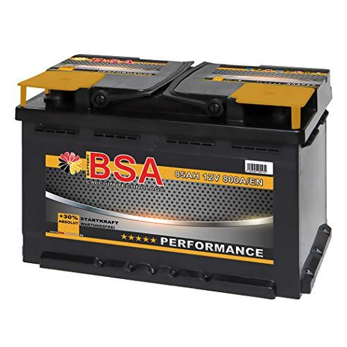 BSA Autobatterie 12V 85Ah 800A/EN Batterie ersetzt 74Ah 75Ah 77Ah 80Ah 82Ah 83Ah