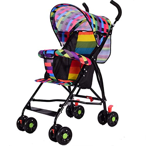 Great Features Of Meen Stroller, Ultra-Lightweight Portable Folding Four-Wheeled Children's Simple T...