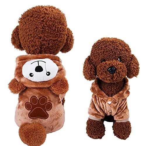 Ropa para Mascotas de otoo e InviernoDisfraz dePerros y Gatos clidosSuter de Cachorro Gato Mono Lindo Muebles de Ocio Accesorios para Mascotas, Oso, XXL