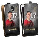 DeinDesign Étui Compatible avec Samsung Galaxy Note 4 Étui à Rabat Étui magnétique RBFA Produit...