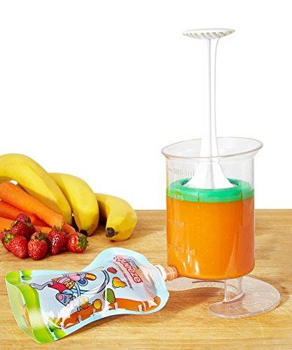 Lot de 15 Gourdes Rechargeables et Réutilisables 150ml pour compotes et purées | pour Bébé Gourdes Réutilisable pour Enfants | - Va au Congélateur & au Lave-Vaisselle - Sans BPA Fill n Squeeze