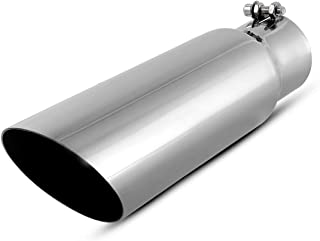 2.75 Inch Inlet Exhaust Tip, AUTOSAVER88 Chrome Polished Stainless Steel Exhaust Tailpipe Tip, 2.75