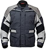 Pilot Motosport Men's Trans.Urban Motorcycle Touring Jacket (V2) (Gray, X-Large)