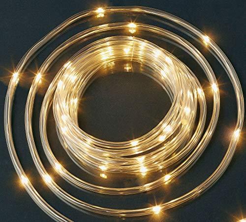 HELLUM 521566 LED Lichtschlauch klar warmweiß 4,9m außen mit Timer