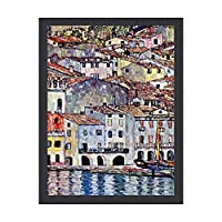 INOV グスタフクリムトマルチェシーヌアットガルダイタリア 絵画 インテリア フレーム装飾画 アートポスター 額入り(30cm*40cm) 壁画 アートパネル 油絵 壁飾り 壁掛け 木枠付き