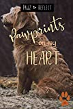 Pawprints On My Heart 34: Glossy Photo Cover Detail of Curly Light Brown Fur, 6'x9' journal with 160...